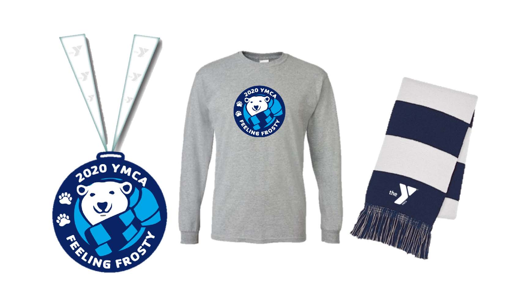 2020 Feeling Frosty Medal, Shirt, and Scarf